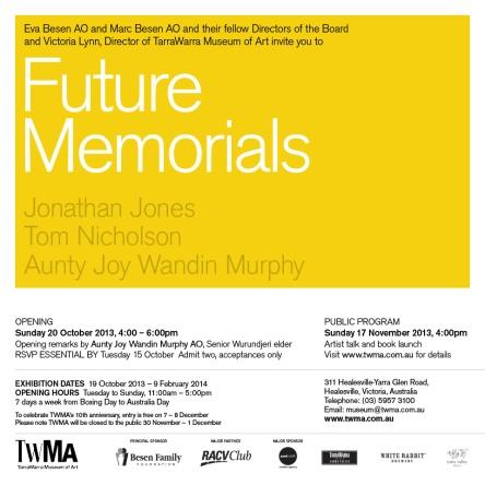 Future memorials invite